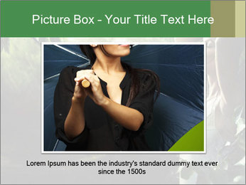Sexy brunette in a rain forest PowerPoint Templates - Slide 15