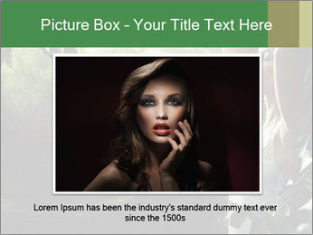 Sexy brunette in a rain forest PowerPoint Templates - Slide 16
