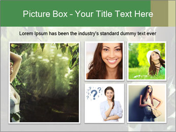 Sexy brunette in a rain forest PowerPoint Templates - Slide 19