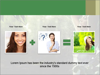 Sexy brunette in a rain forest PowerPoint Templates - Slide 22
