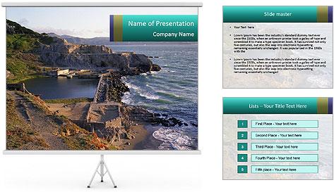 Sutro Baths in San Francisco PowerPoint Template