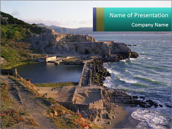Sutro Baths in San Francisco PowerPoint Template