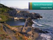 Sutro Baths in San Francisco PowerPoint Templates