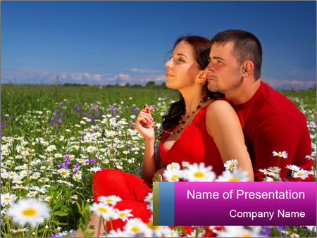 Couple at the sunny day PowerPoint Template