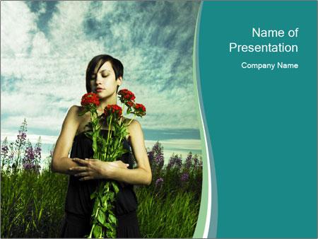 Romantic girl PowerPoint Templates