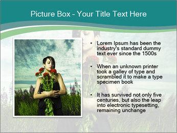 Romantic girl PowerPoint Templates - Slide 13