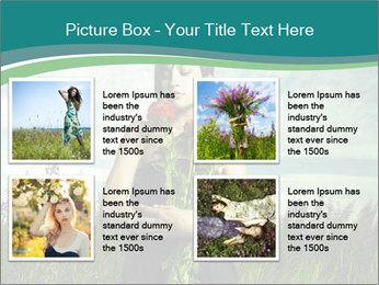 Romantic girl PowerPoint Templates - Slide 14