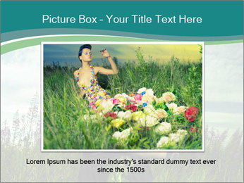 Romantic girl PowerPoint Templates - Slide 15