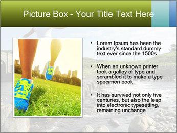 Girl runs across stepping stones PowerPoint Template - Slide 13