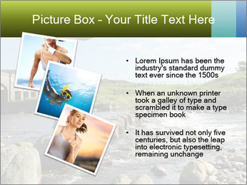 Girl runs across stepping stones PowerPoint Template - Slide 17