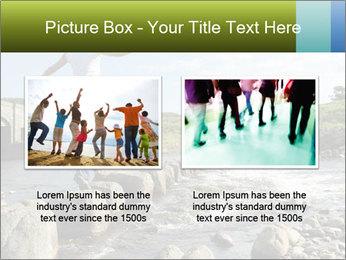 Girl runs across stepping stones PowerPoint Template - Slide 18