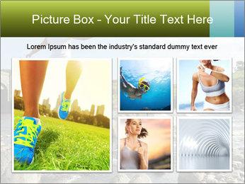 Girl runs across stepping stones PowerPoint Template - Slide 19