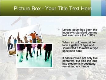 Girl runs across stepping stones PowerPoint Template - Slide 20
