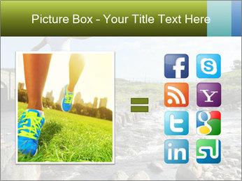 Girl runs across stepping stones PowerPoint Template - Slide 21