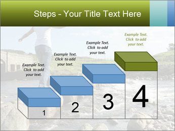 Girl runs across stepping stones PowerPoint Template - Slide 64