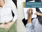 Psychiatrist with patient PowerPoint Templates