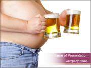 Man with two beer PowerPoint Templates