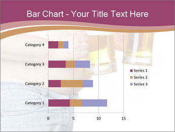 Man with two beer PowerPoint Template - Slide 52