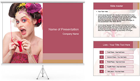 Fashion woman PowerPoint Template