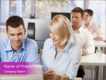 Young business people PowerPoint Templates
