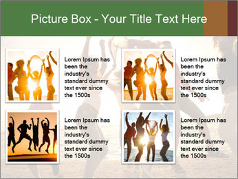 Group of happy young people PowerPoint Templates - Slide 14
