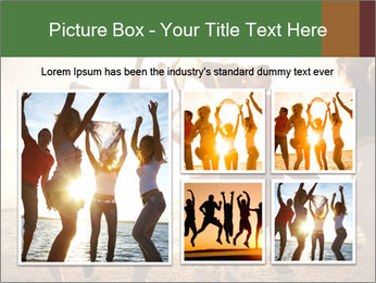 Group of happy young people PowerPoint Templates - Slide 19