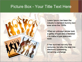 Group of happy young people PowerPoint Templates - Slide 23