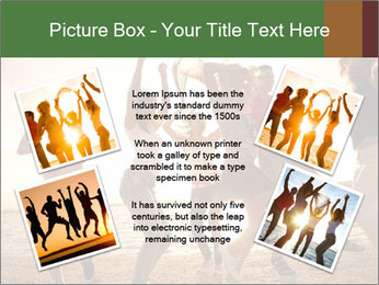 Group of happy young people PowerPoint Templates - Slide 24