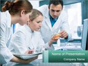 Group of scientists working PowerPoint Template