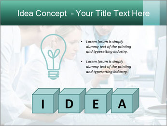 Group of scientists working PowerPoint Templates - Slide 80