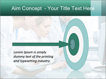 Group of scientists working PowerPoint Templates - Slide 83