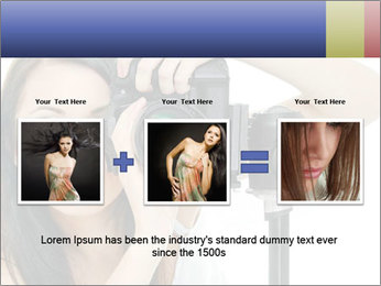 Beauty brunette with camera PowerPoint Templates - Slide 22