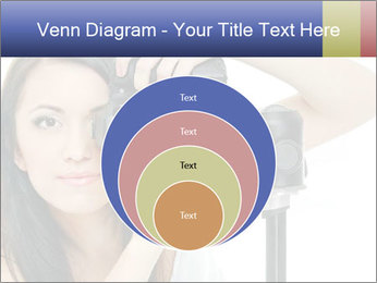 Beauty brunette with camera PowerPoint Templates - Slide 34