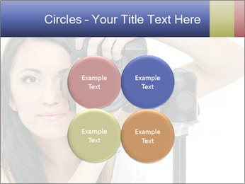 Beauty brunette with camera PowerPoint Templates - Slide 38