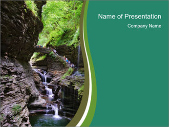 Rocks and stream PowerPoint Templates - Slide 1