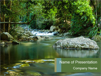 Purling falls PowerPoint Template - Slide 1