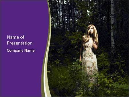 Romantic woman PowerPoint Template