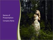 Romantic woman PowerPoint Templates