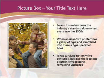 Grandfather keeps his grandson PowerPoint Template - Slide 13