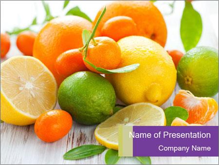 Citrus fresh fruit PowerPoint Templates