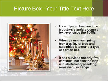Red and white presents by christmas tree PowerPoint Templates - Slide 13