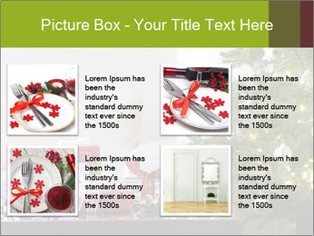 Red and white presents by christmas tree PowerPoint Templates - Slide 14