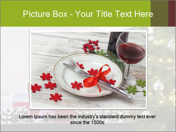 Red and white presents by christmas tree PowerPoint Templates - Slide 15