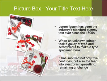 Red and white presents by christmas tree PowerPoint Templates - Slide 17