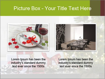 Red and white presents by christmas tree PowerPoint Templates - Slide 18