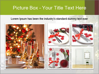 Red and white presents by christmas tree PowerPoint Templates - Slide 19