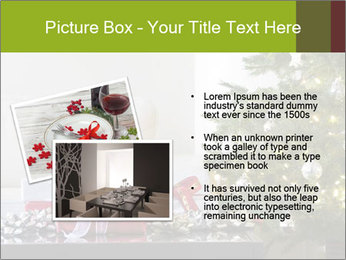 Red and white presents by christmas tree PowerPoint Templates - Slide 20