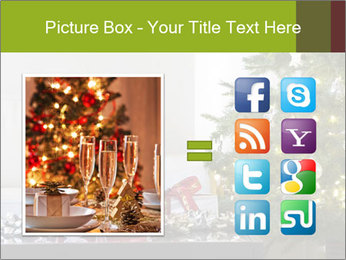 Red and white presents by christmas tree PowerPoint Templates - Slide 21
