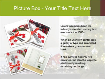 Red and white presents by christmas tree PowerPoint Templates - Slide 23