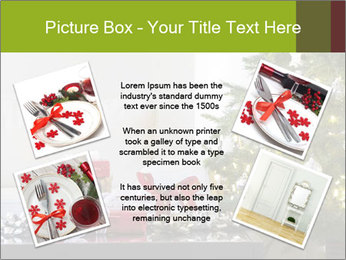 Red and white presents by christmas tree PowerPoint Templates - Slide 24